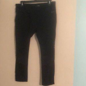 Nike Pants - Nike Dri Fit Black Running Crop Tight Size Large